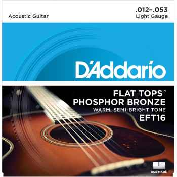 D´addario EFT16 Flat Tops Phosphor Bronze Regular cuerdas Guitarra Acústica